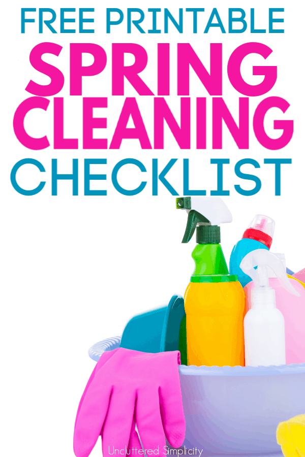 This free checklist makes it so easy to spring clean your entire home! A great resource for when your house is in need of a deep cleaning! #springcleaning #deepclean #cleaningchecklist