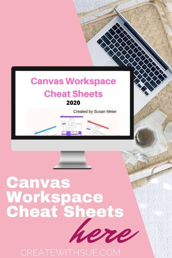 Canvas Workspace Cheat Sheets pinterest pin