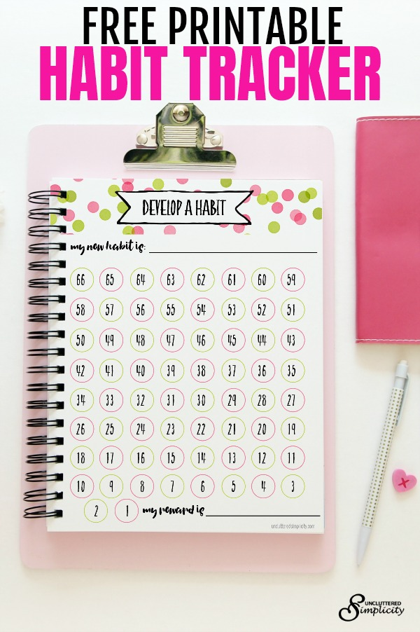 Free Printable Habit Tracker | Planner printables for 2018 | free printables | how to start a new habit | habit tracker ideas | #habittracker #plannerprintables #freeprintables