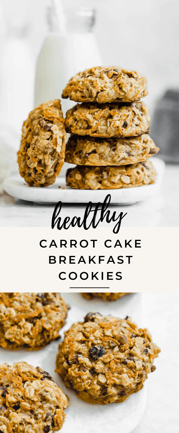 Cookies for breakfast? Cont me in. These healthy carrot cake breakfast cookies are the perfecty treat to start the day off right!