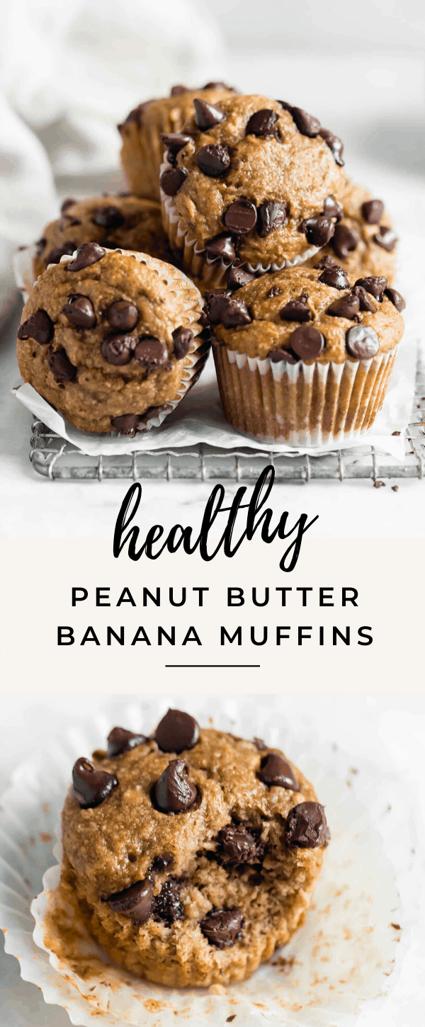These gluten free healthy peanut butter banana muffins are seriously delicious and super easy to make! One bowl, minimal ingredients, and pretty cheap to make!
