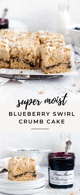 blueberry coffee cake recipe pin