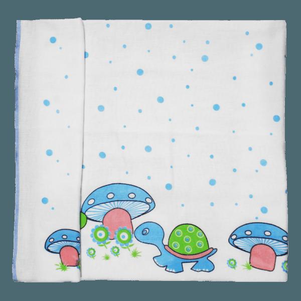 Velona Organic Cotton Baby Towel with Turtle design