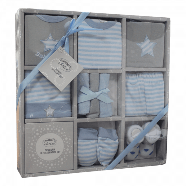 Blue 10pc newborn clothing gift set