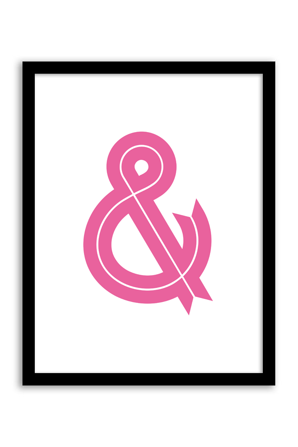 Free Printable Ampersand Ribbon Wall Art from Chicfetti.com