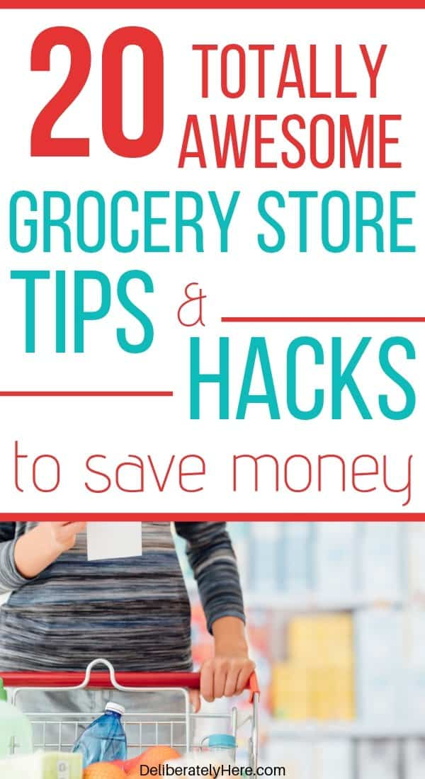 How to save money on groceries without coupons. 20 grocery store hacks to save big money. How to save money on groceries with frugal living. Use a budget to track your grocery spending. 20 things to stop wasting money on every month. 20 things to quit buying at the grocery store. Save money on food every month.