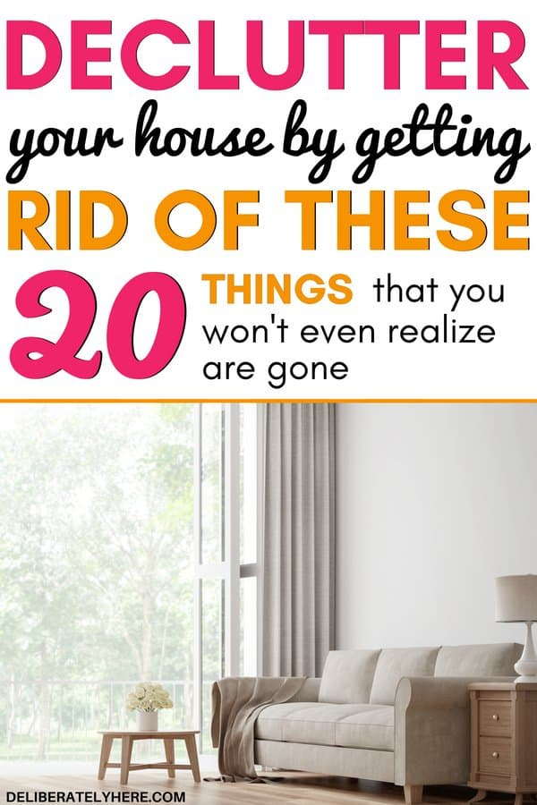Do you find yourself crippled by the clutter in your home? If you want to declutter but don't know where to start, here are 20 simple things to declutter from your home today to create a happier, healthier home. Easily declutter your home in a few simple steps with this free decluttering checklist to get you started.