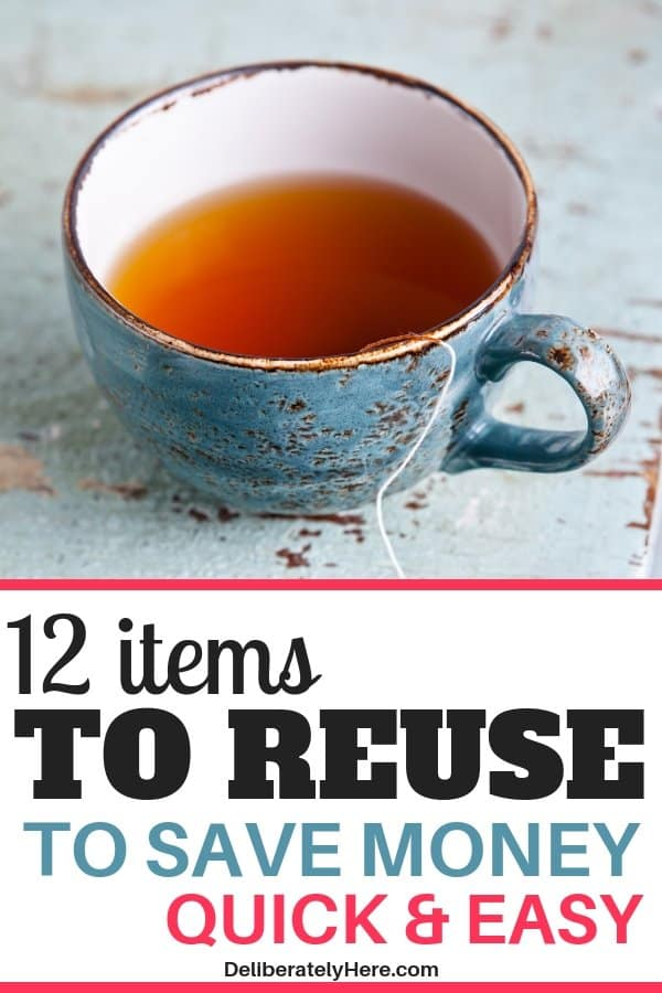 12 items to reuse to save money. 12 items frugal people reuse to save money every month. Save money fast with this one frugal living trick. Frugal living for beginners - start saving money this month. Reuse and repurpose these household items to save money every month. Frugal tips, frugal living tips to help you save money. Save money with frugal living.