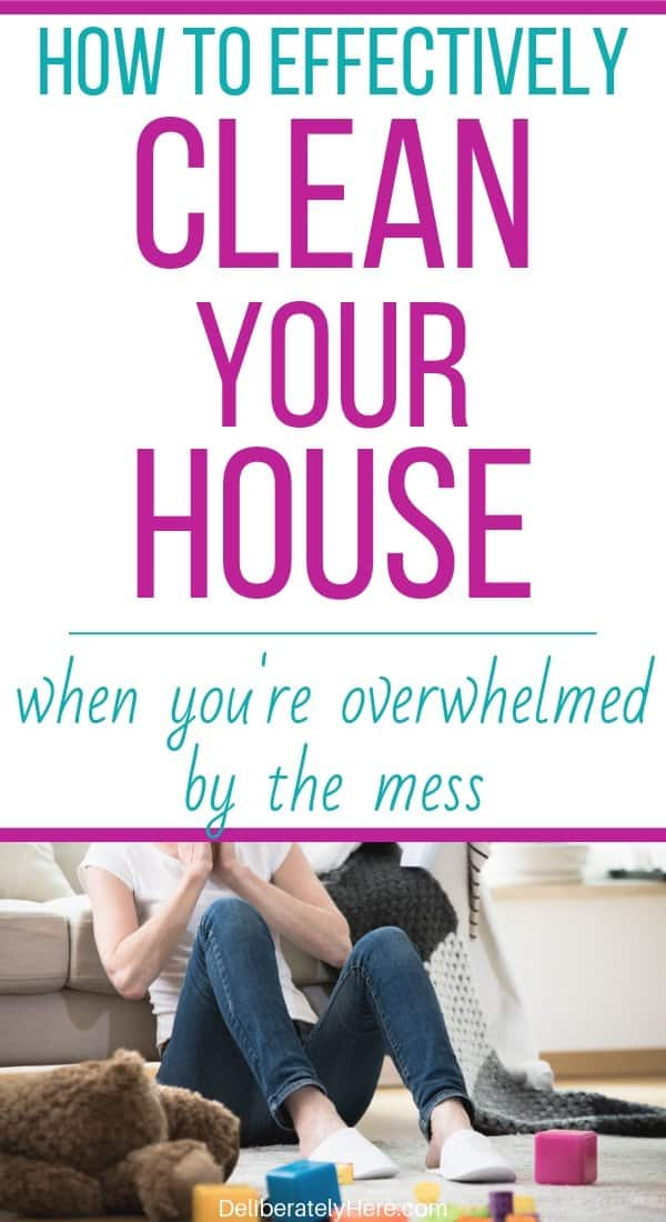 How to clean when you're overwhelmed by the mess. How to clean your house fast (like a professional). How to clean your house when it's a mess. Simple steps to clean your house when you don't know where to start. 3 ways to clean your house room by room.