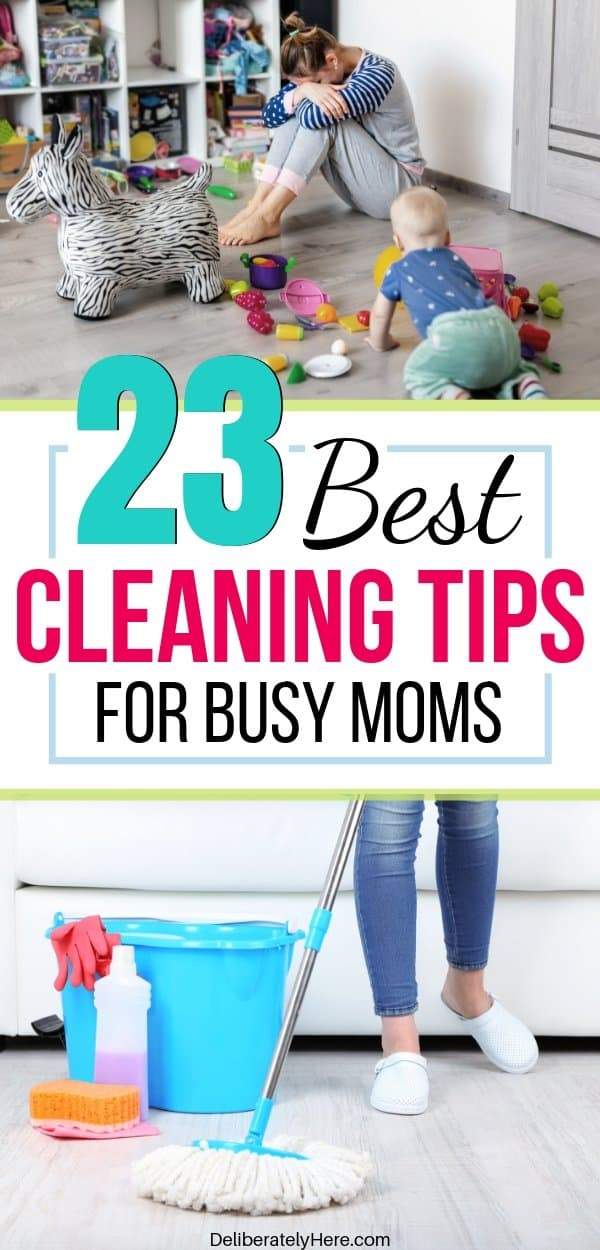 23 easy cleaning tips for busy moms. Cleaning tips for the home when you don't have time to clean. Cleaning tips for lazy people - how to create a clean and organized home. Household cleaning tips and tricks. The best cleaning hacks for busy people. How to clean your house when you work full time.