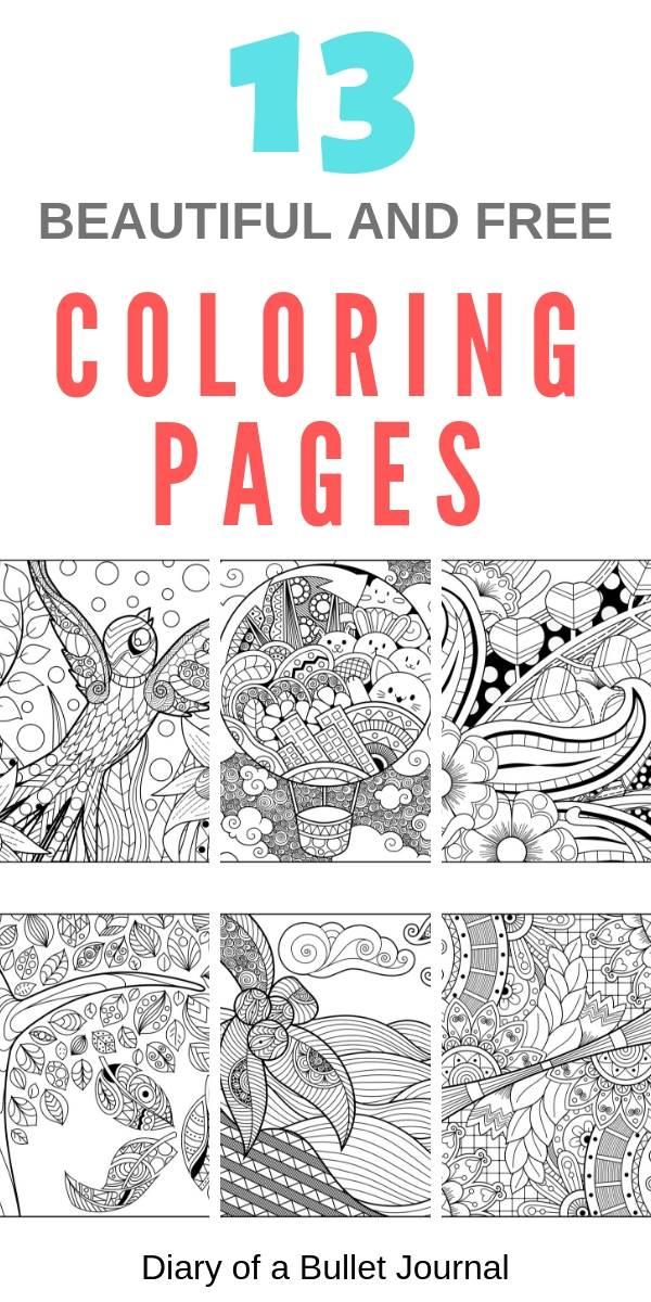 free coloring pages to download and print today