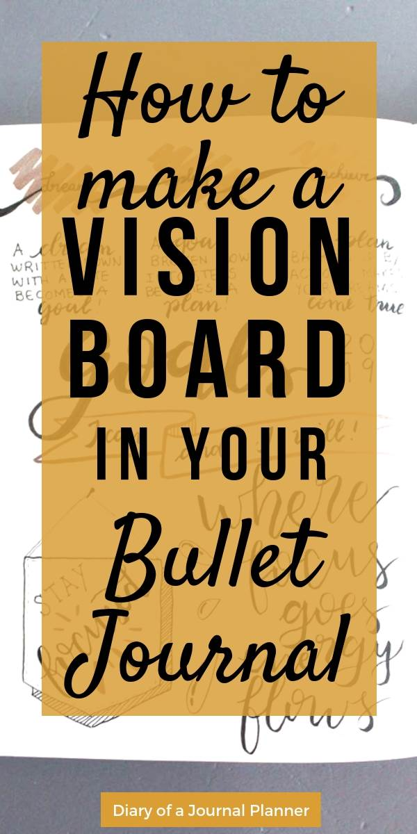 make a vision board in your bullet journal