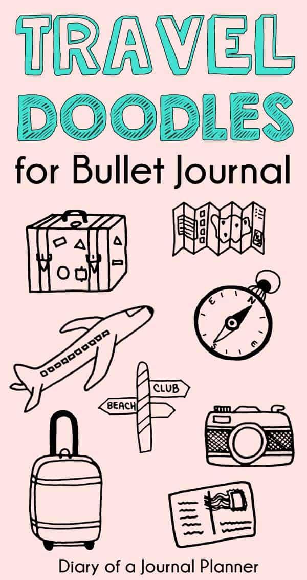 BULLET JOURNALTRAVEL DOODLES