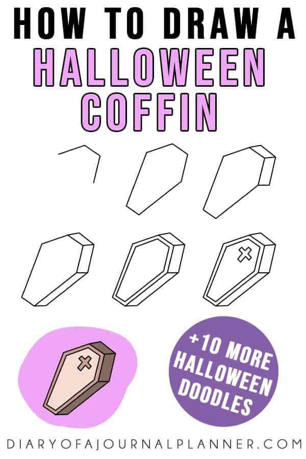 Halloween coffin doodle