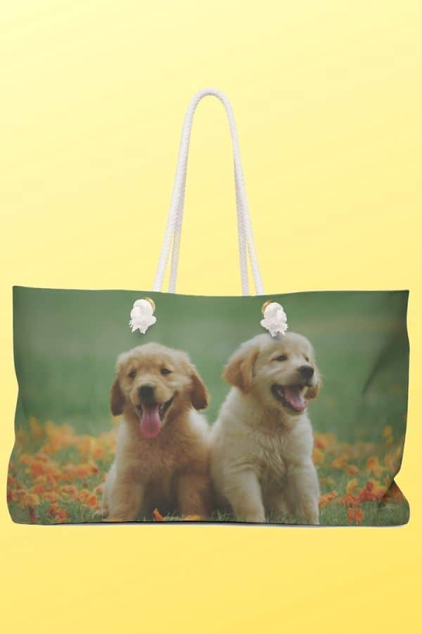 Golden Retriever Weekender Bag