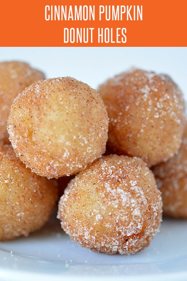 Pumpkin Spice Doughnut Holes - Pumpkin Recipes are plentiful, but this dessert recipe is quick and easy! More holiday recipes at FoodieandWine.com. #pumpkinrecipes #dessertrecipes #fallrecipes #donutrecipes