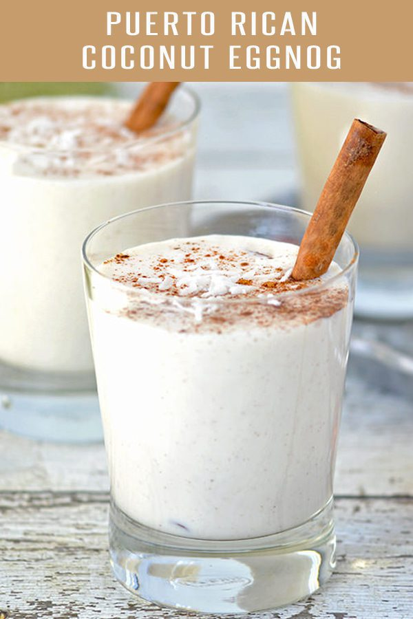 Cocquito Recipe, otherwise known as Puerto Rican Coconut Eggnog. Loaded with coconut flavor and rum. Perfect holiday drink recipe. #drinkrecipe #holidayrecipes #eggnogrecipes