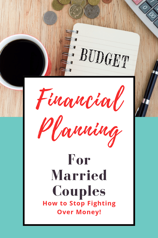 Book with budget written on it Financial planning for married couples