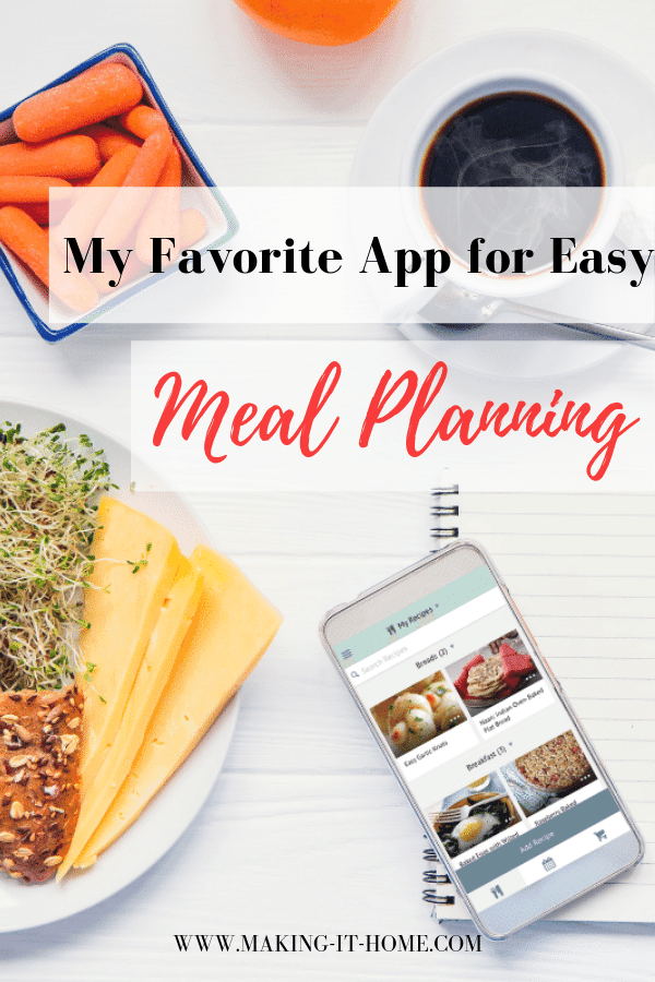 table with food notebook pen and meal planner app on iphone my favorite meal plan app meal planning with ease
