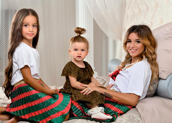 Бородина с дочками