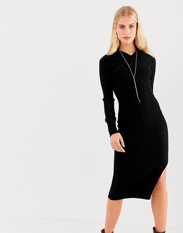 Платье-свитер трикотаж