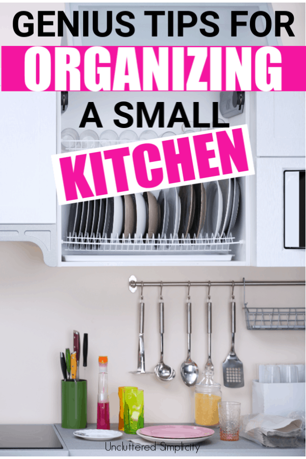 How to Organize a Small Kitchen. Small kitchen hacks. #getorganized #organizationideas