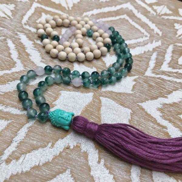 108 Flower Jade Mala