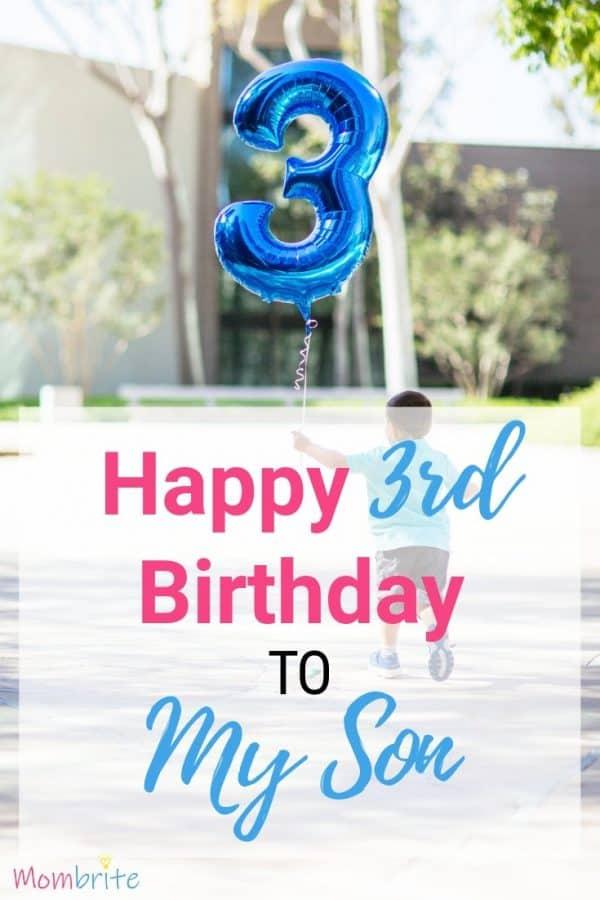 happy 3rd birthday son