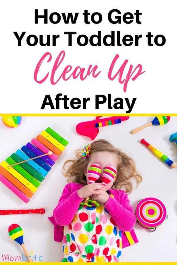 Does your house have toys all over the floor? I am here to tell you about the secret to getting your toddler to clean up after play. They will actually enjoy cleaning up after this! #mombrite #toddlers