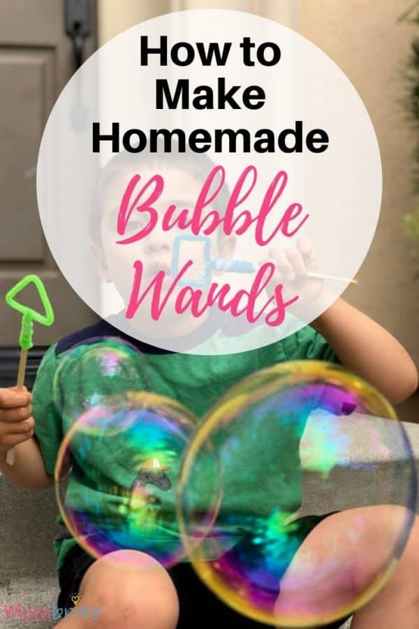 homemade bubble wands