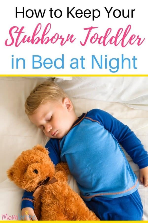 how to keep your toddler in bed