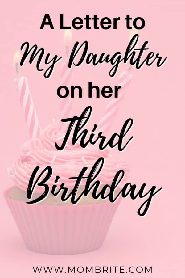 A Letter to My Daughter on her Third Birthday