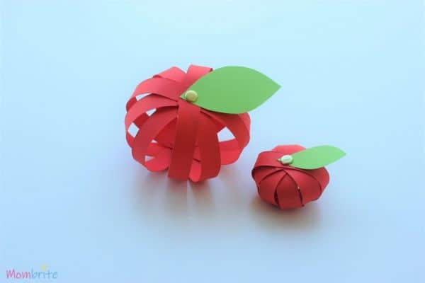 3d apple craft 2 apples
