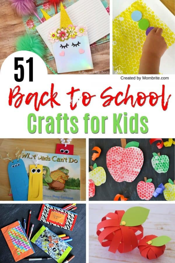 51 Easy Back to School Crafts for Kids | Mombrite