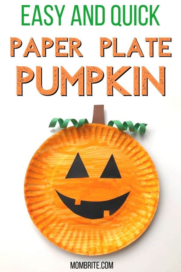 Easy Paper Plate Pumpkin Craft For Halloween Mombrite