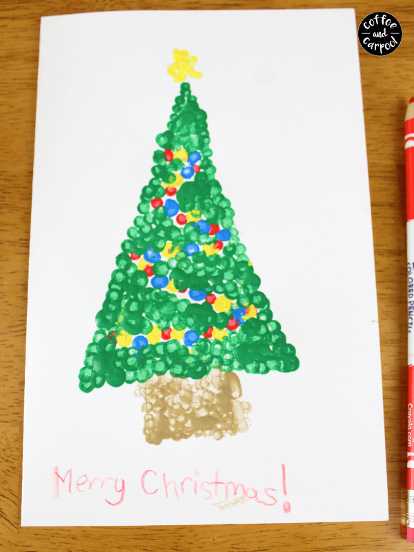 Christmas Pointillism finished card