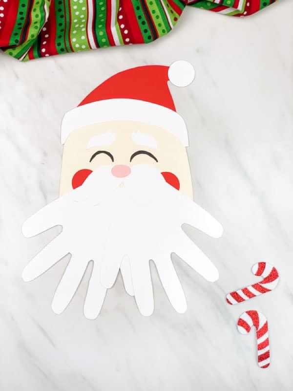 handprint santa craft for preschool image