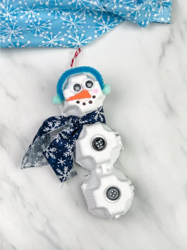 recycled snowman craft kindergarten image