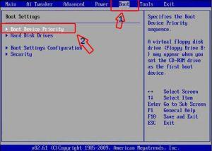 صفحه بوت بایوس- آموزش نصب ویندوز 10
