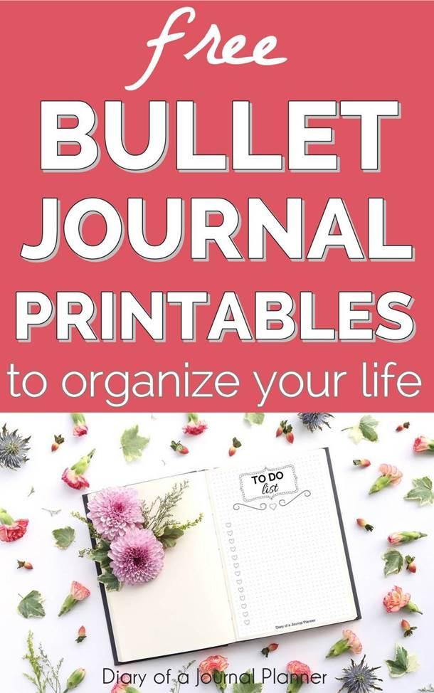 bullet journal printables free