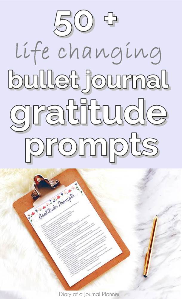 Bullet Journal Gratitude Prompts