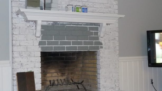 what color should i paint my brick fireplace