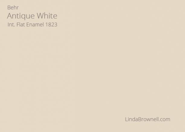 antique white paint behr
