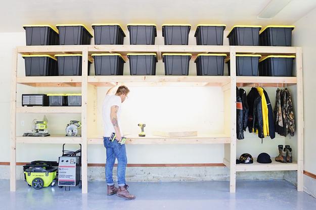 diy garage shelves for a wall