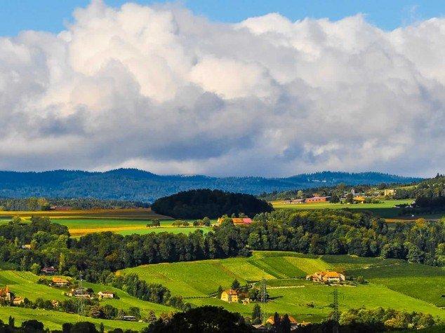 Prangins - Vue sur le Jura