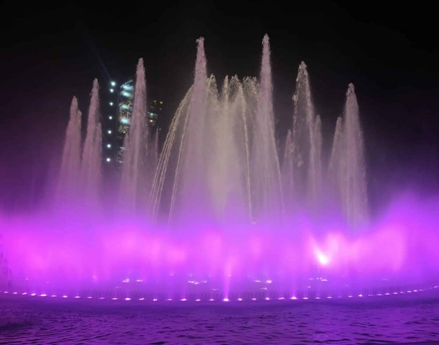 the Magic water circuit in Lima is just spectacular