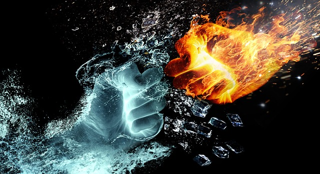 fire and water collide