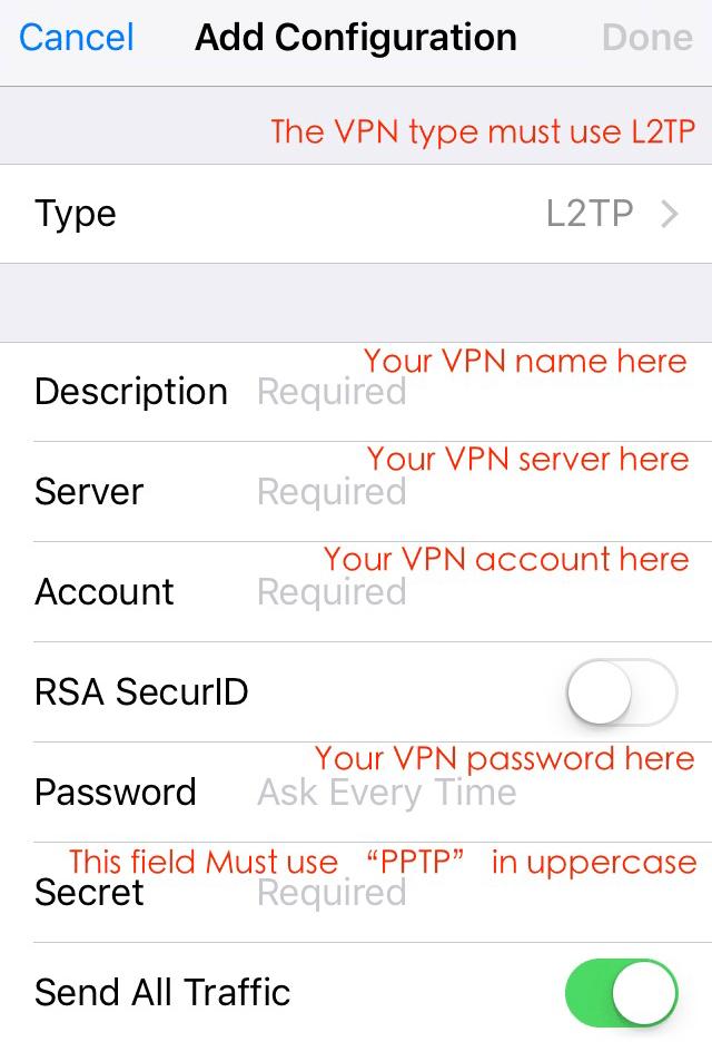 iOS 10 PPTP workaround - PPTPfix