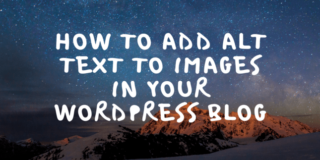 How to add alt text to images in your WordPress blog
