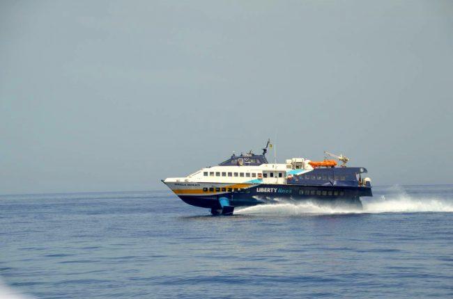 Catania Milazzo ferry to Aeolian Island